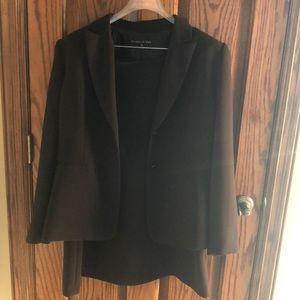 Beautiful dark brown skirt suit